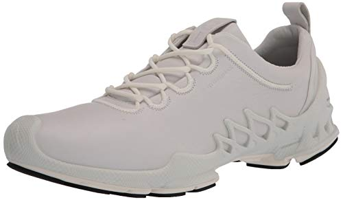 Ecco Men's Biom AEX Luxe Hydromax Water-Resistant Running Shoe, White, 6-6.5