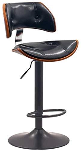 Silla de escritorio para sofá, bar, silla delantera, silla alta, silla giratoria, silla KTV, respaldo de madera maciza, silla de bar, silla elevadora, taburete de bar (color: I)-H