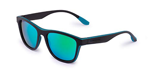 HAWKERS · ONE S · Polarized Black · Green Rubber · Sonnenbrillen für Herren und Damen