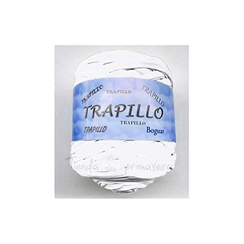 Trapillo Boguar 1kg - 100 metros aproximado de tela cortada (Blanco)