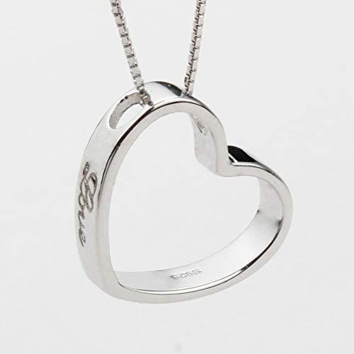 Likass Ms. 925 Sterling Silver Necklace Silver Pendant, La Mejor Opción para El Día De San Valentín, Regalo De Año Nuevo, Recuerdo De Aniversario,Símbolo De Amor-Amor por La Moda