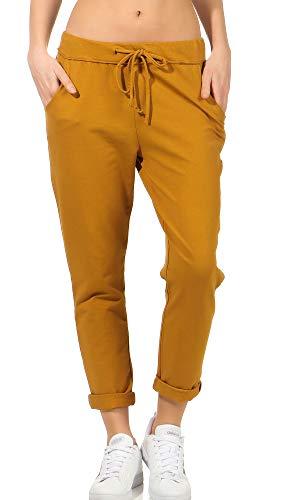 Pantalones de chándal para mujer, estilo boyfriend, para tiempo libre, deporte y fitness 15 mostaza Talla única