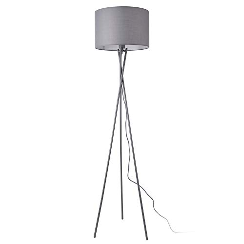 lux.pro Stehleuchte 'Grenoble' 154cm 1x E27 60W Stehlampe Design Standleuchte Stand Lampe Metall Grau