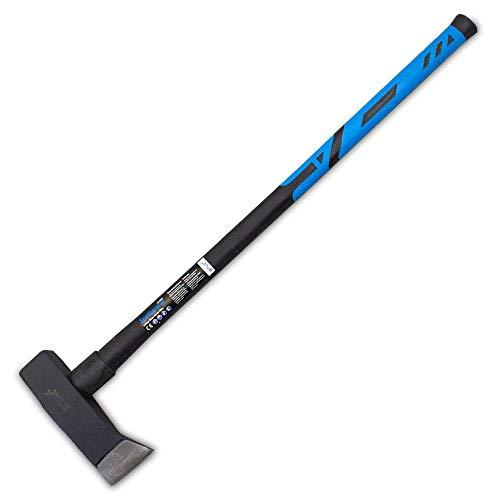 BITUXX Spaltaxt Spaltbeil Axt Beil Spalthammer Spaltkeil Fiberglas Forst Set - Die Perfekten Werkzeuge für Garten und Wald (Spalthammer 4 Kg)