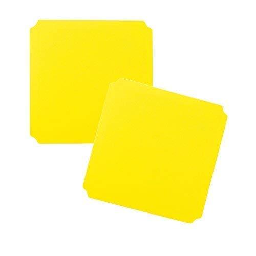 Moveandstic 2er Set Platte gelb 40x40 cm
