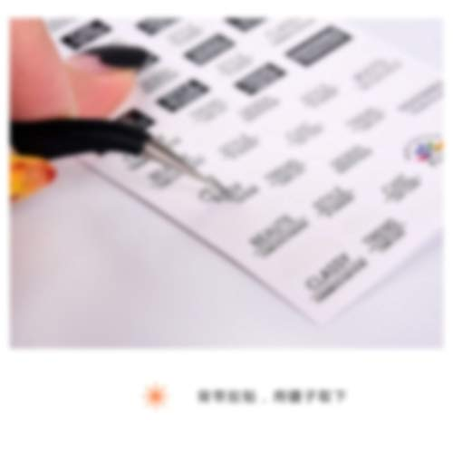 BLOUR 1pcs Marke Nail Stickers Lineares Blumenmuster Nail Art Decorations Slider für Nail Manicure Adhesive DIY Decals Folie