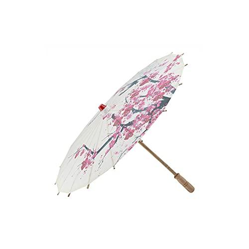 Mini paraguas de papel Paraguas de papel engrasado hecho a mano Arte chino Paraguas de danza clásica Flor de ciruelo
