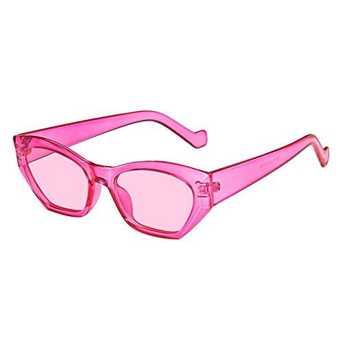 ZZOW Gafas De Sol Irregulares De Ojo De Gato A La Moda para Mujer, Gafas De Sol Vintage Transparentes De Color Caramelo para Hombre, Gafas De Sol Poligonales De Tendencia, Sombras Uv400