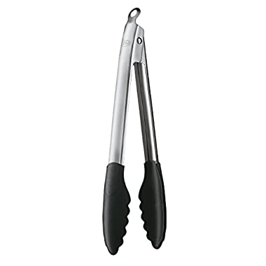 Rosle 12926 Stainless Steel Lock & Release Silicone Coated Cooking Tongs, 12-inch