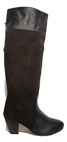 MISS KURT GEIGER braun Leder & Wildleder Kontrast Stiefel, Braun - Dunkelbraun - Größe: 37.5
