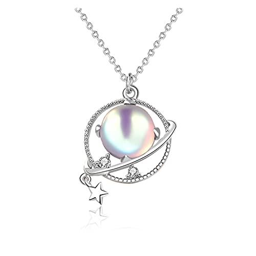X/L Collar de la moda de la planta, trendy925 collar de plata para las mujeres Aurora Moonstone colgantes joyería regalos