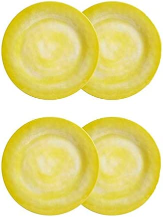 Northeast Home Goods Solid Swirl Se Max 68% Max 75% OFF OFF Round Melamine Plates Salad