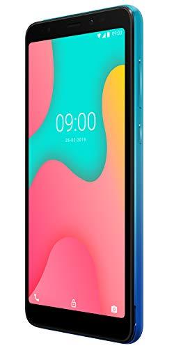 Wiko Y60 Smartphone débloqué 4G (Ecran 5, 45 Pouces - 16 Go - Micro-SIM/Nano-SIM + Emplacement Micro SD pour mémoire Extensible jusqu'à 128Go) Bleen