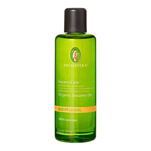 PRIMAVERA Pflegeöl Sesamöl bio 100 ml - Naturkosmetik, Pflanzenöl, Hautöl - erwärmend für reife Haut - vegan