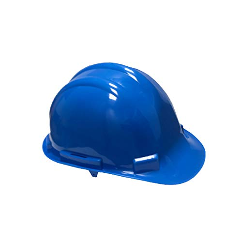 Bauarbeiterhelm aus Polypropylen in blau| Schutzhelm mit Schweißband| Industrie Arbeitsschutzhelm| Forstschutzhelm| Arbeitshelm in Universalgröße|Baustellenhelm mit Vierpunkt PE Innenleben| EN397