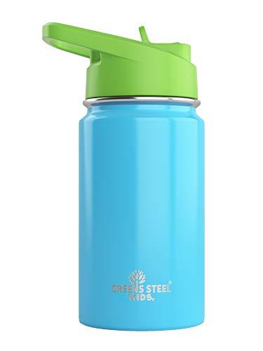 Bottiglia per bambini in acciaio inox doppia parete (Blue)