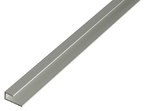 GAH-Alberts 30944 Abschlussprofil | selbstklemmend | Aluminium, silberfarbig eloxiert | 1000 x 20 x 9 mm