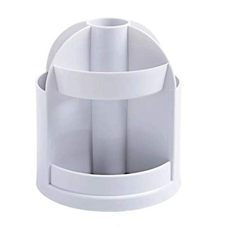 AOYATIMEペン立て 360度回転 オフィス収納 ペンケース ペンスタンド 鉛筆立て ブラスチック製ペンホルダー 収納ボッ 小物入れ 多機能卓上文房具 (グレー)
