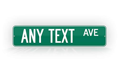 Customized Green Road Sign Personalized Novelty Street Sign