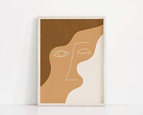 Blink Art Printing   Ojos de dibujo lineal   Cara de arte lineal   Cartel femenino de la pestaña del ejemplo de la línea del   Pelusa mínima   Cuadro decorativo familiar sin marco A58 30x40cm