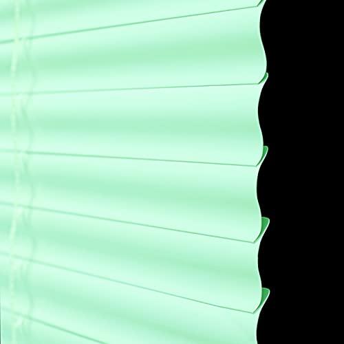 Persianas Venecianas pvc Persianas Venecianas de PVC, Mini Persianas Horizontales Verdes, Persianas Impermeables para el Dormitorio de La Cocina del Cuarto de Niños, con Listones en Forma de S y Tirad