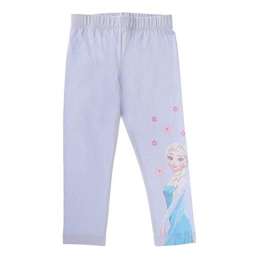 Disney Eiskönigin Mädchen Capri Leggings Frozen mit Elsa (104, hellblau)