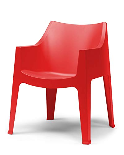 Scab Design Set 4 poltrone Coccolona Colore Rosso