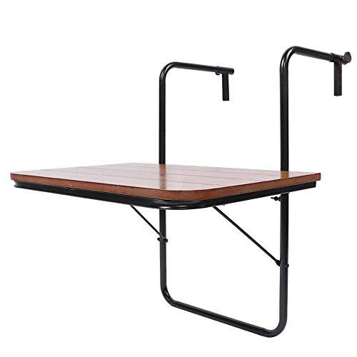 Ejoyous Balkonhängetisch klappbar, Balkonhängetisch Hochwertige Geländer Eisenständer Klappgarten Tisch