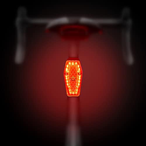 Fahrrad-Rücklicht, WASAGA Sport LED Rücklicht USB wiederaufladbar Rot Hohe Intensität Rücklicht Wasserdicht 30 Stunden 6 Lichtmodi Helm Rucksack LED Lampe Sicherheit Warnung Stroboskop Rücklicht