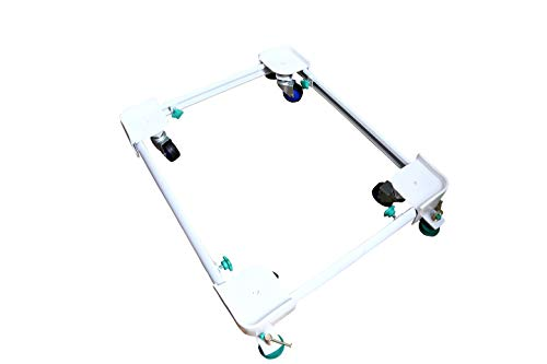 """YS Home Appliances Heavy Duty Adjustable & MOTILE Front Load Washing Machine Metallic Stand/Trolley(Mini.DIM- 16""""X19"""" inch MAX.DIM- 26""""X32""""inches) for LG Front Load Model NO.FHT1065SNL"""