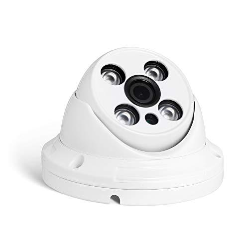 Revotech PoE HD 3MP Resistente al Agua IP Cámara H.265 1080P 2MP para Exteriores 4 Array LED de Visión Nocturna Hazme Cámara Seguridad ONVIF P2P CCTV Cámara con IR-Cut (I395-P Blanco)