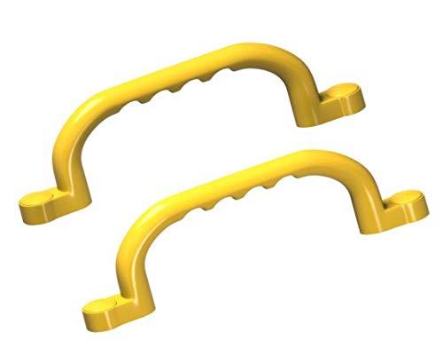 2 Stück h2i Haltegriffe/Handläufe in gelb ideal für Klettergerüste Baum und Spielhäuser