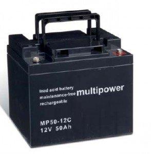 Multi Power Batterie au Plomb 12 V/50 Ah MP50–12 C, 12 V, 50000 mAh, PB [électronique]