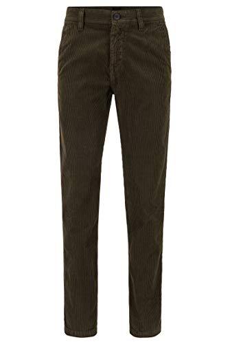 BOSS Hommes Schino-Taber Pantalon Tapered Fit en Velours côtelé de Coton Teint en pièce