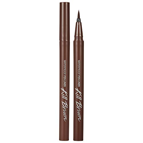 CLIO Waterproof Pen Liquid Eye Liner | Precision Tip, Long Lasting, Smudge-Resistant, High-Intensity Color | Cacao Brown (#03)