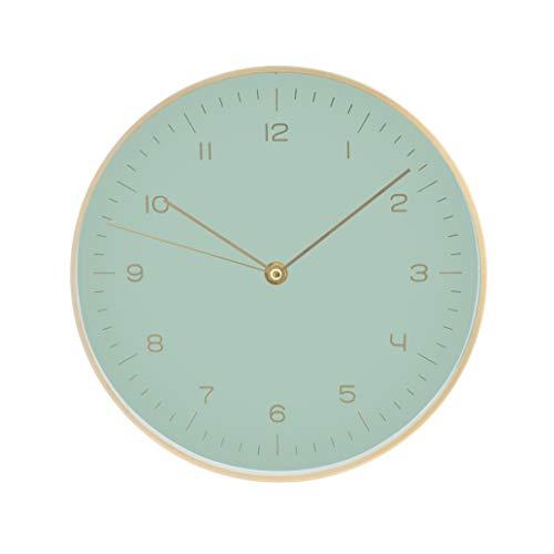 LUUK LIFESTYLE Nordic Design Reloj de Pared de Cuarzo con segundero, Reloj de Cocina, Reloj de Sala, Reloj de Pared de Oficina, Pasillo, Verde Menta