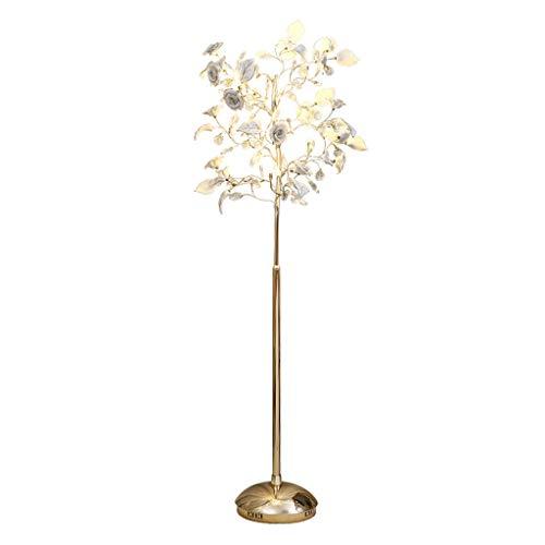 Lampes de chevet Vertical Fleur LED Lampadaire Moderne en Céramique Cristal Lampe Chambre Salle À Manger Lampadaire Lampe De Table Basse (Color : Blanc, Size : 56 * 153cm)