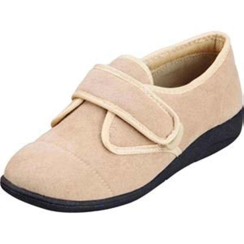 喜んでバスタブ対称マリアンヌ製靴 彩彩~ソフト~ケアシューズ サーモトロンインソールタイプ W811 /26.0cm ベージュ