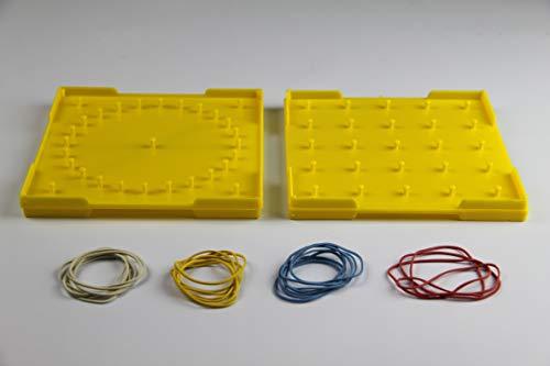 WISSNER® aktiv lernen - Geometrie Brett doppelseitig 15 cm - RE-Plastic®