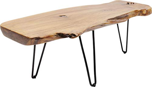 Kare Design Couchtisch Aspen 106x41cm, Holzscheibe Couchtisch, Massivholz Couchtisch, natürlicher Holztisch, (H/B/T) 40x106x40cm