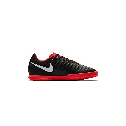Nike Jr Legend 7 Club IC, Zapatillas de fútbol Sala Unisex niño, Multicolor (Black/Pure Platinum-Lt Crimson 006), 28.5 EU