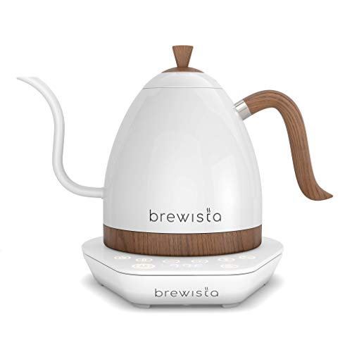 Brewista   Artisan 1.0L Electric Gooseneck Kettle   Electric Water Kettle For Pour Over Coffee (All White (Pearl))