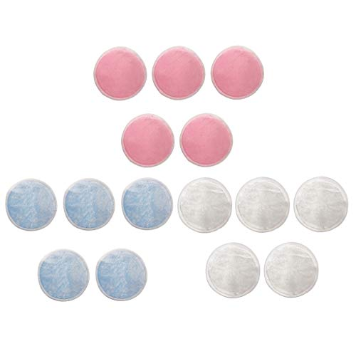 MERIGLARE 15pcs Coton Réutilisables Tampons Décapants Ronds Nettoyant Lingette Outil De Suppression De Maquillage