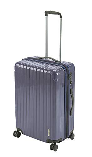 キャプテンスタッグ(CAPTAIN STAG) スーツケース キャリーケース キャリーバッグ 超軽量 TSAロック ダブルホイール 360度回転 静音 ダブルファスナータイプ Mサイズ バイオレッド パルティール UV-83