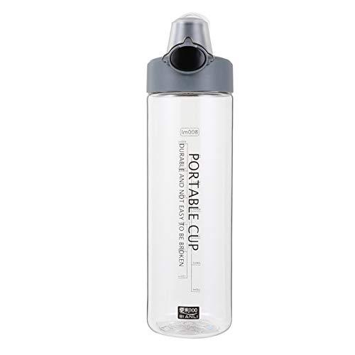 Lurrose Botella de Agua con Tapa para Deportes Botella de Beber de Agua 1000ML Botella de Jugo de Bebida de Agua con Botella Portátil Aire Libre de Escala