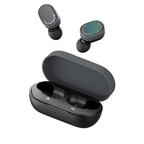 Auriculares Bluetooth 5.0 Deporte, SoundPEATS Cascos Inalámbricos In-Ear Nuevo Versión Truedot True Wireless Invisibles Sonido Estéreo (Negro)