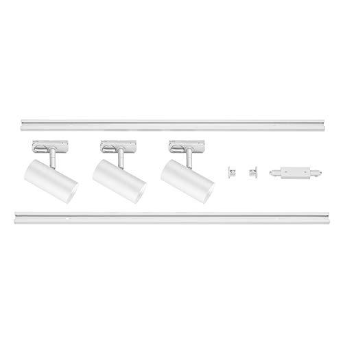 SLV 1 Phasen System Leuchte 1Ph NOBLO SPOT SET / Strahler, LED-Spot, Decken-Strahler, Decken-Leuchte, Schienensystem, Innen-Beleuchtung / 2700K 22.5W 1860lm weiß