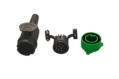 Anhänger Stecker 8 polig 12 Volt mit Doppeltülle inkl. Parkdose und Zugentlastung