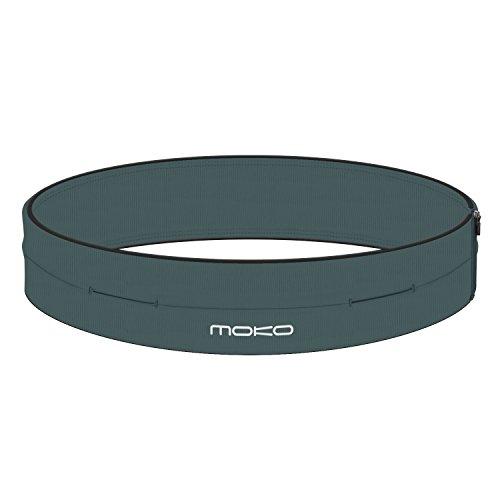 MoKo Sport Waist Packs - Marsupio Sportivo Running con 4 Tasche per iPhone 11/11 PRO Max/XS Max/XR, Compatibile con i cellulari Fino a 6