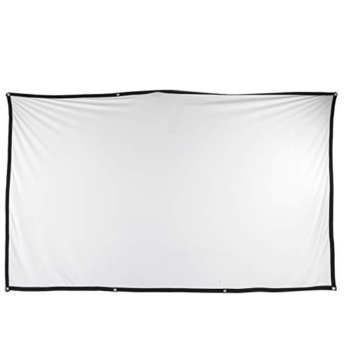 Cortina de projeção, telas de projeção de vídeo, conveniente e suave dobrável 16: 9 para quarto interno externo doméstico(120 inch)